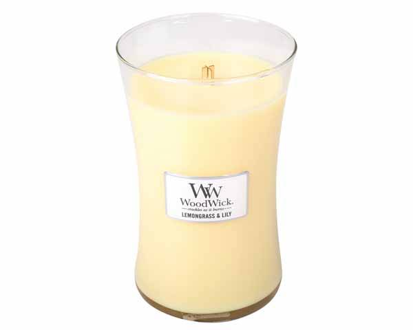 WoodWick Lemongrass & Lily Large Candle.