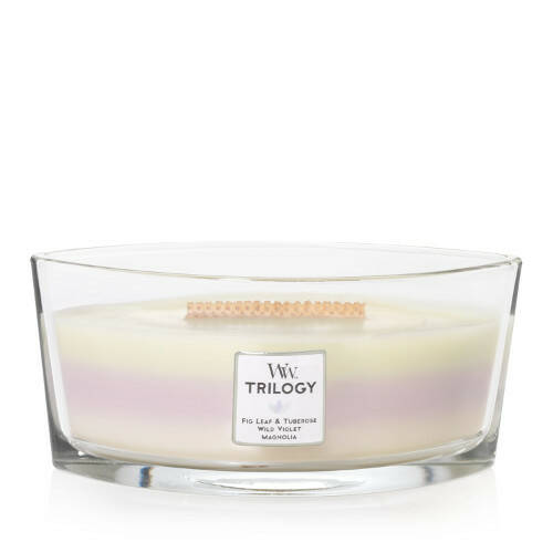 WoodWick Trilogy HearthWick Flame Ellipse Candle Terrace Blossoms