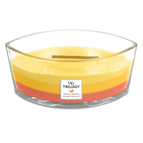 WoodWick Trilogy HearthWick Flame Ellipse Candle Tropical Sunrise
