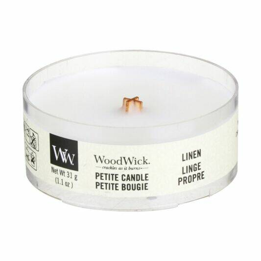 WoodWick Linen Petite Candle