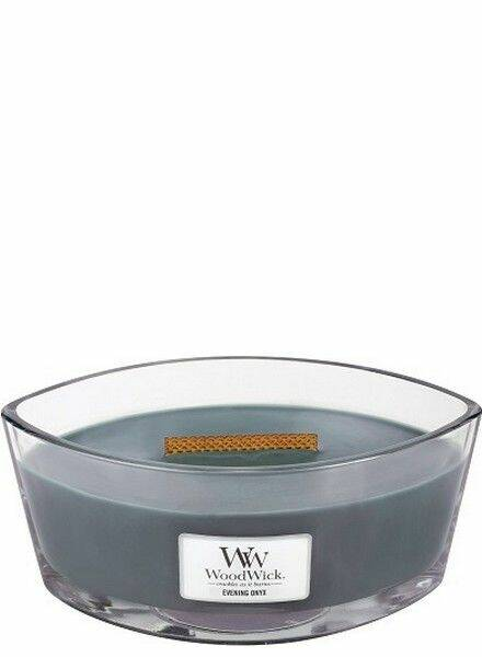 WoodWick Evening Onyx Ellipse HearthWick Flame
