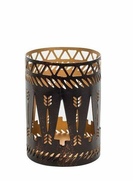 WoodWick Petite Candle Holder Bronze Trees