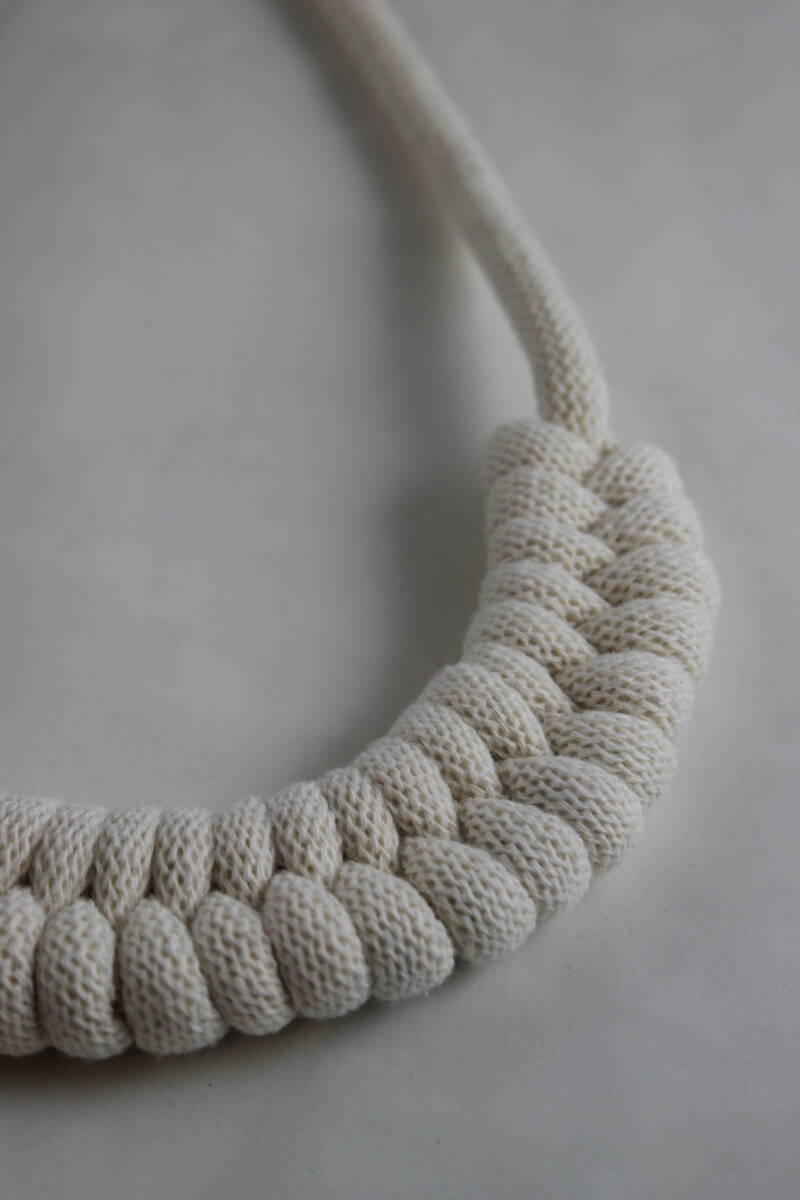 Chunky geweven ketting - naturel