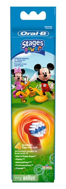 Oral-B Stages Power Kids Micky Mouse - 4 Opzetborstels