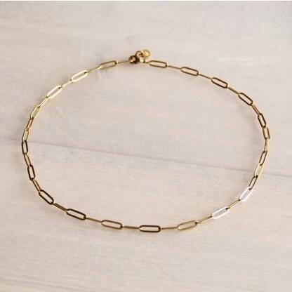 Stainless Steel chain necklace - gold