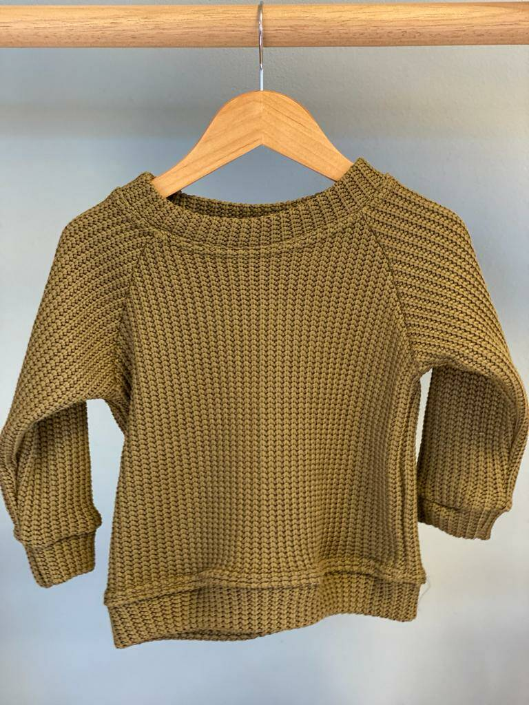 Zoofs Floraison Knitted sweater Olive