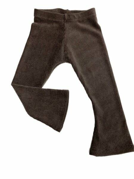 Zoofs Floraison Flared pants rib Taupe