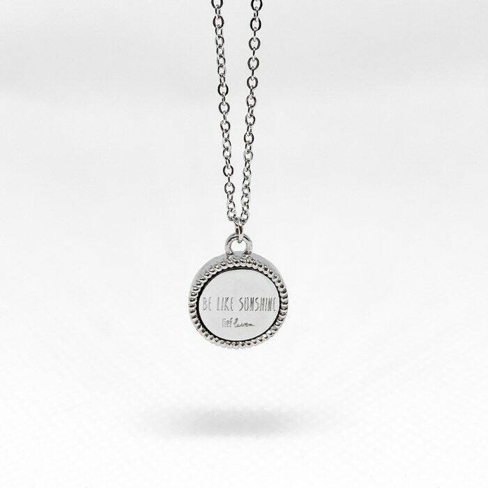 Lief Leven Ketting • Be like sunshine • zilver of goud