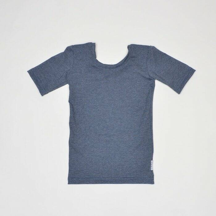 No Label Kidswear Low back top - Denim blauw