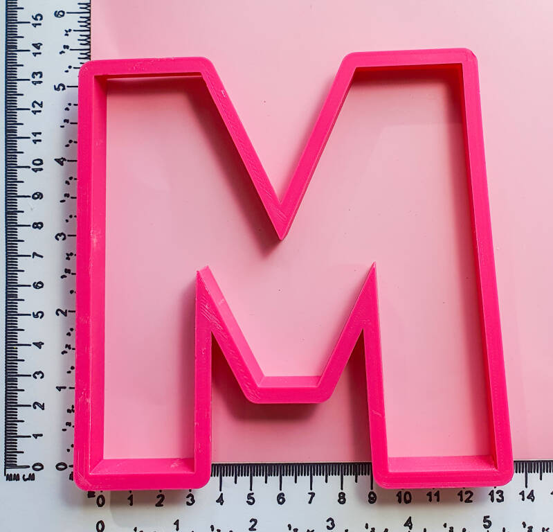 Extra large letter M RZ54