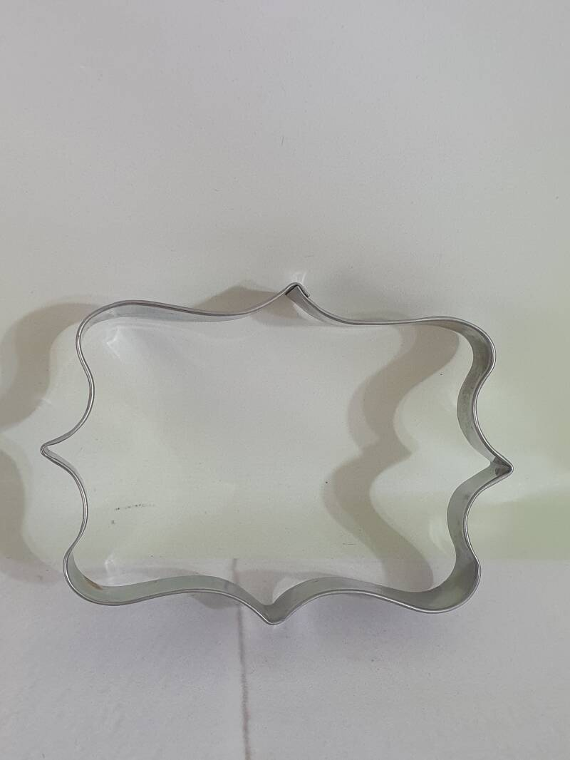 Grote luxe barok tag cookie cutter GL98