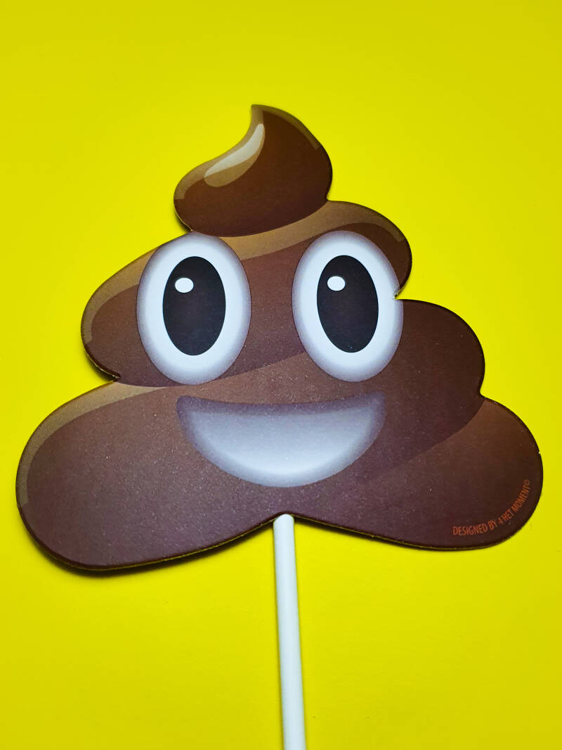 Poop emoji happy cake topper ST11