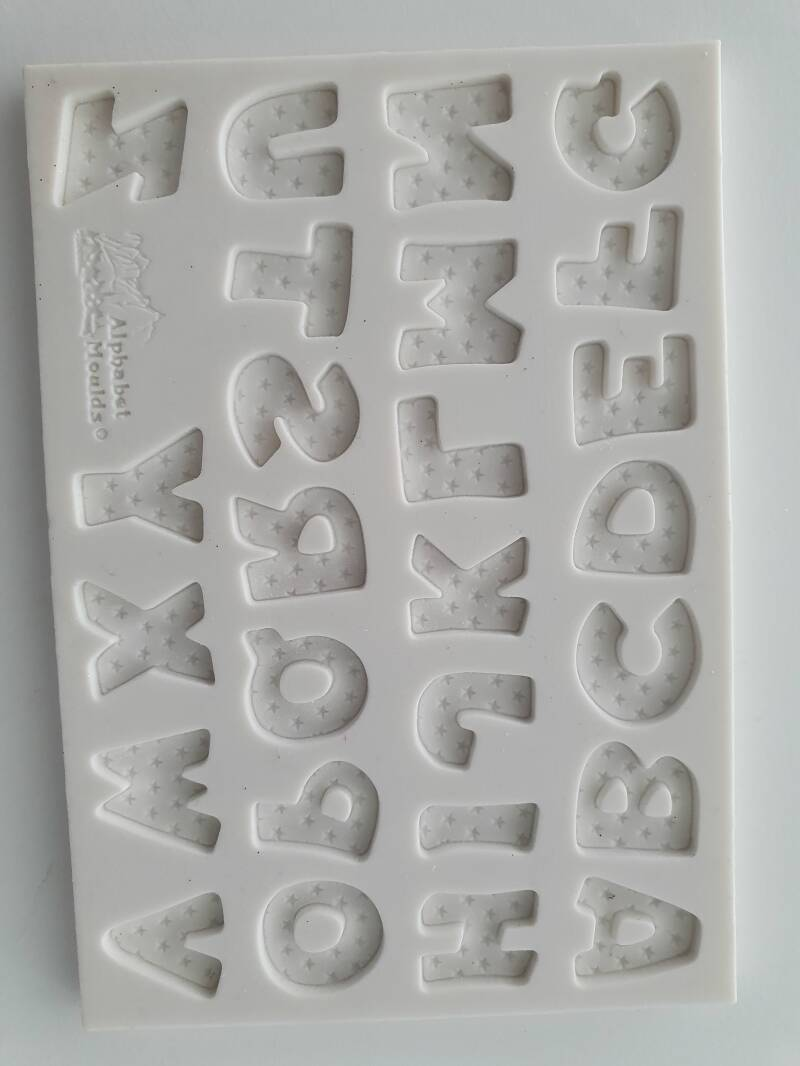 Silicone Alphabet Moulds Stars OR50