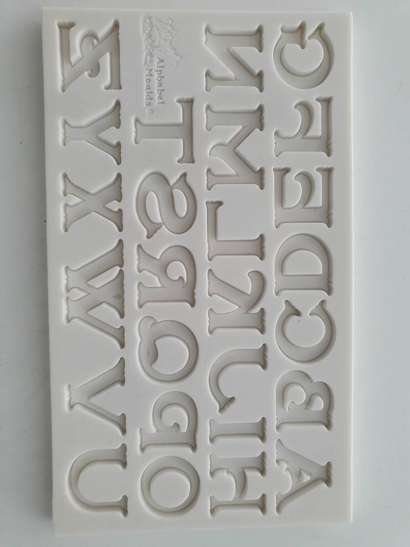 Silicone Alphabet Moulds barok font OR37