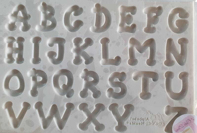 Silicone Alphabet Moulds dots font OR33