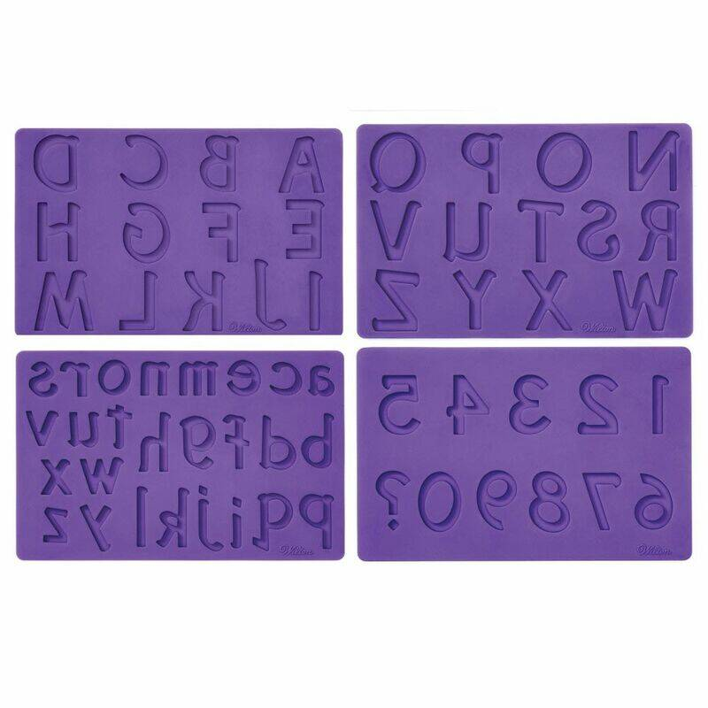 Wilton Siliconen mold Letters / Numbers set/4 KO37