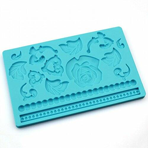 Rose & Pearl Floral Multi Mat Silicone Mould OR57