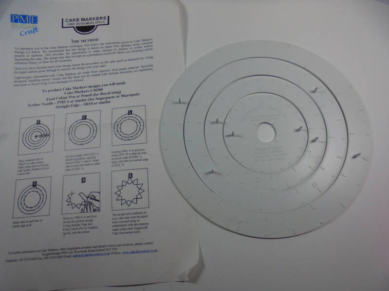 PME cake markers discs H4