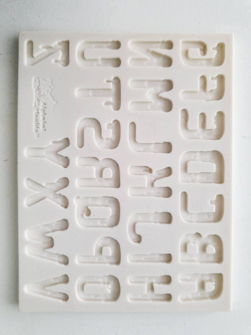 Silicone Alphabet Moulds ice font OR35