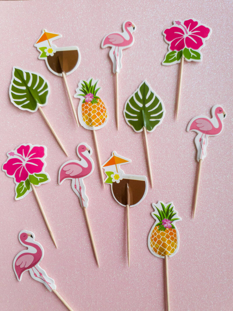 Tropische cupcake toppers ST01