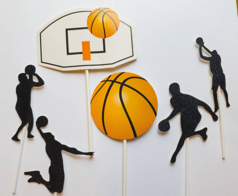 Basketball cake topper ST19