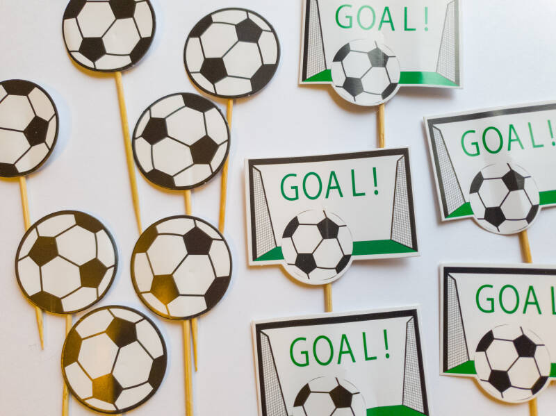 Voetbal cupcake toppers ST02