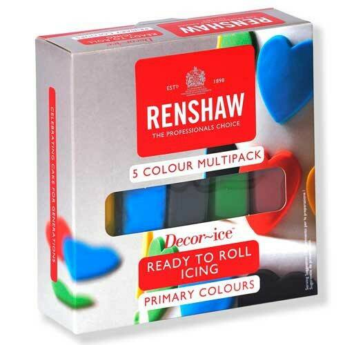 Renshaw rolled fondant pro multipack primary colours