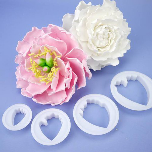 Peony cookie cutter C62