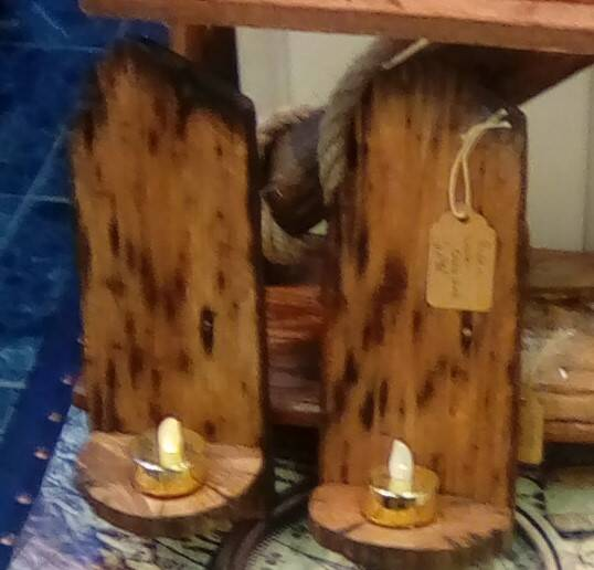 RUSTIC  HANGING CANDLE HOLDERS