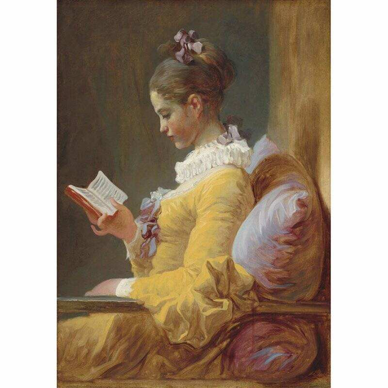 Young girl reading A1
