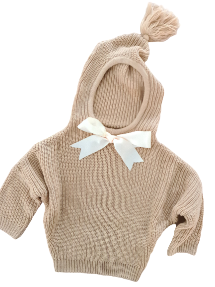 Pull bow / beige