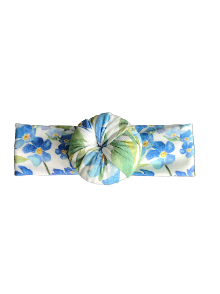 Headband donut / Blue flower