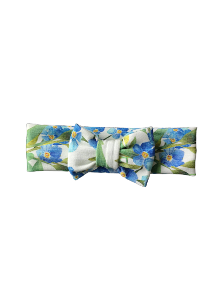 Headband STRIK / Blue flower
