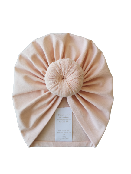 Turban zalm roze / Adult