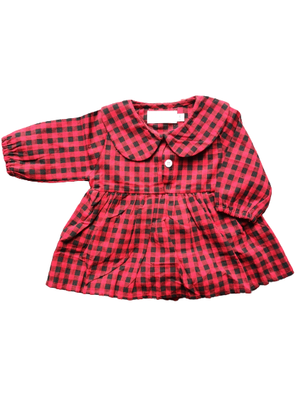 Checked dress / Rood zwart