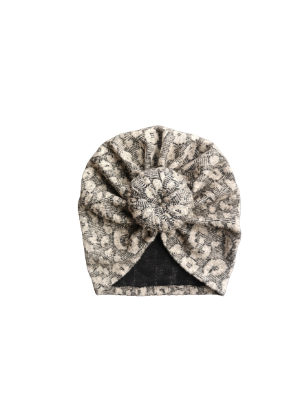 Turban leopard beige Winter