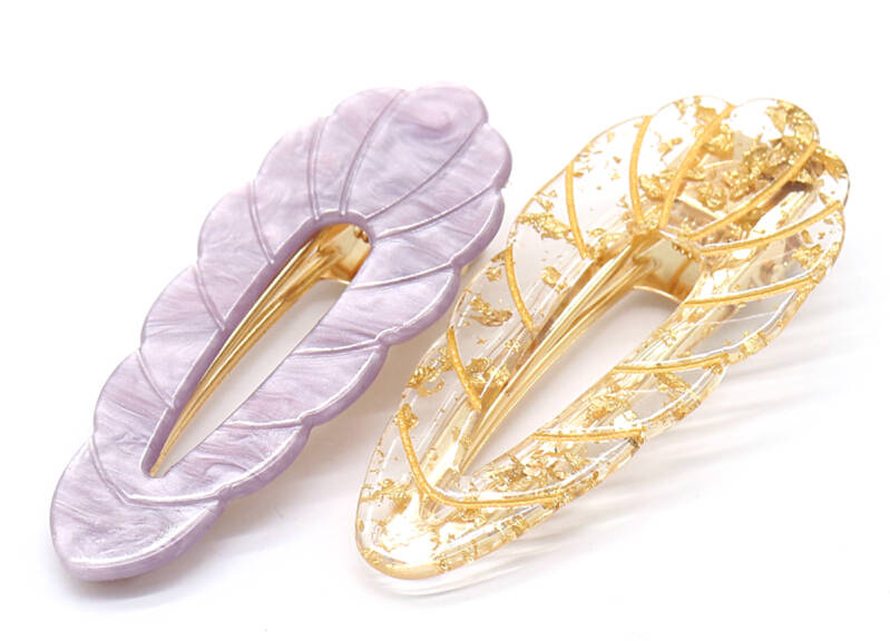 Clip Leaves Gold-Purple