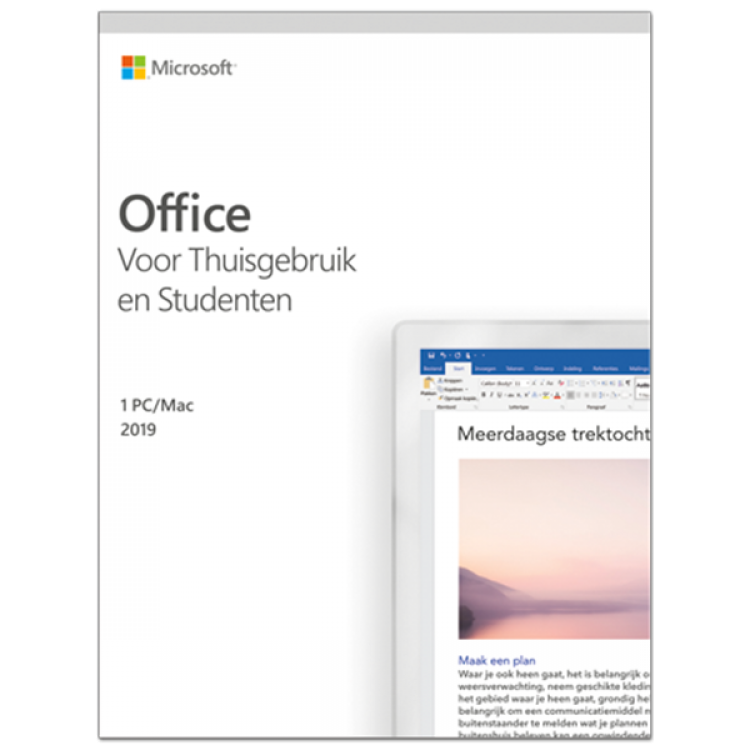 Microsoft Office 2019 Thuisgebruik & Student Windows + Mac