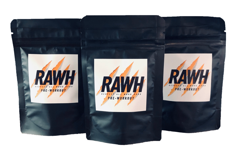 RAWH Pre-workout Citrus-Watermeloen 3 pack (30 tablets).