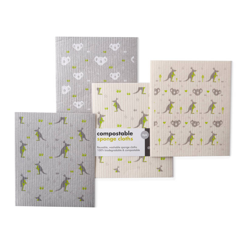 Compostable Sponge Cleaning Cloths - Wildlife Rescue