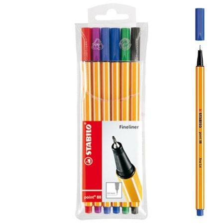 Fineliners Stabilo 6 stuks (Point 88)