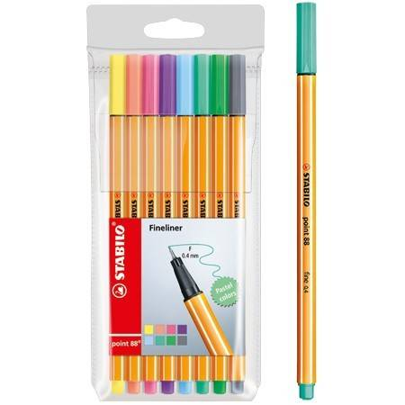 Fineliners Stabilo 8 stuks (Point 88 Pastel)