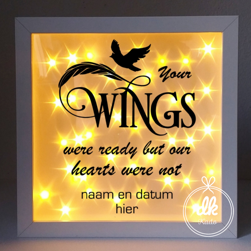 3D Shadowbox kerst Your wings were ready