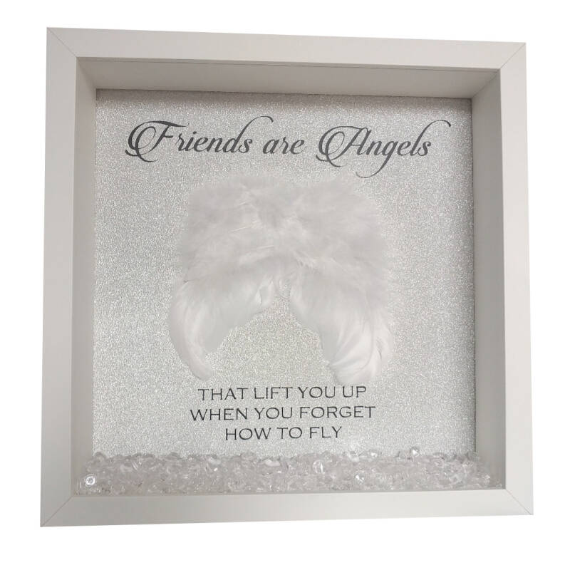 3D Shadowbox glitter - wings - friends are angels