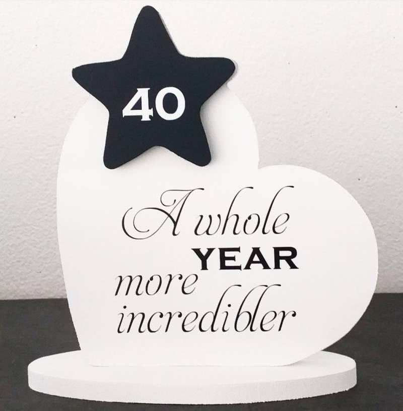 Decoratiebordje A whole year more incredibler