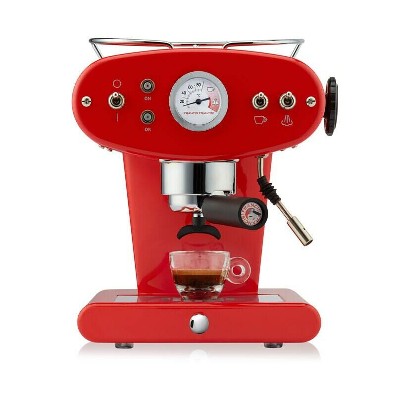 Illy X1 Ground - rood, halfautomaat
