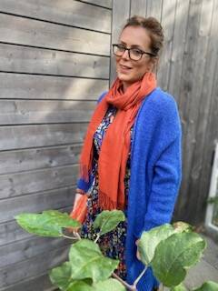 Sjaal roest cashmere