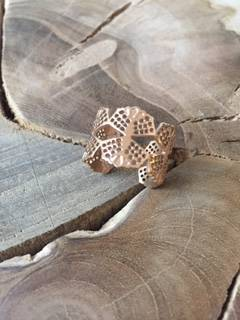 Ring rose gold blad stainless steel