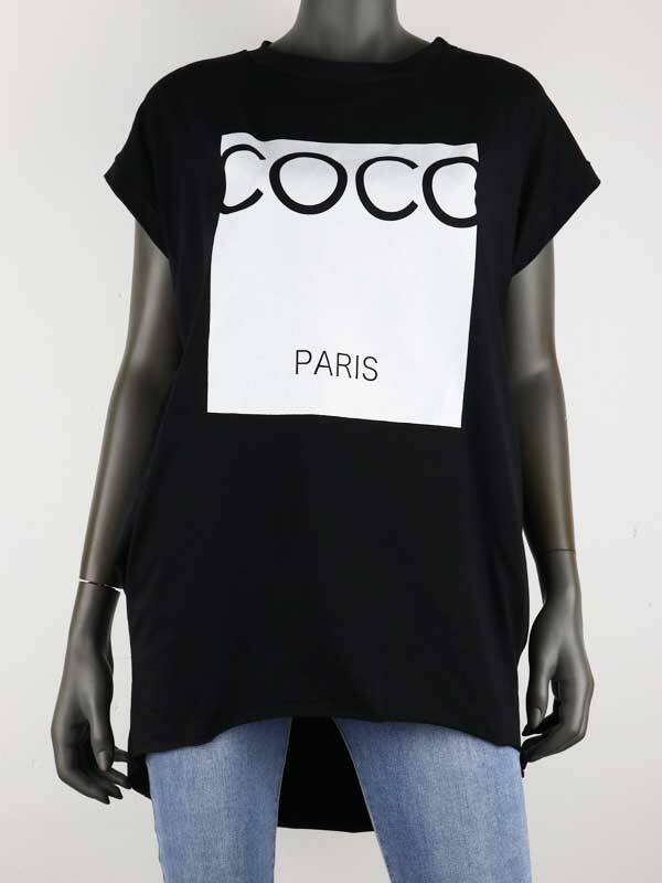 Top Paris COCO  - zwart