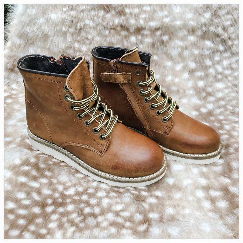Gattino - G1114 - Bottines chestnut combi